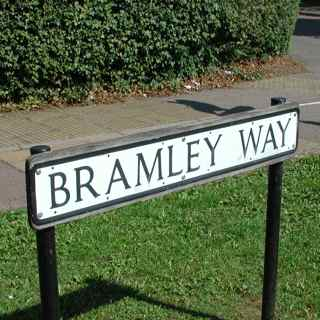 Bramley Way street plate